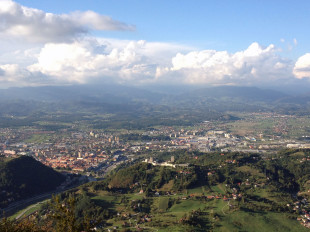 panoramic, view, celje, slovenia, hiking