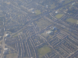approach, london, suburbs, flying, landing
